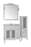 Комплект мебели ASB Woodline Флоренция квадро 80 витраж белый (Массив ясеня)