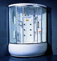 Душевая угловая кабина с ванной Appollo TS-1235W