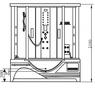 Душевая угловая кабина с ванной Potter PZS 1313 II (B2)G