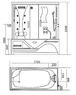 Душевая прямоугольная кабина с ванной Potter PZS 1709 II (2) (левая/правая)