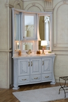 Комплект мебели Аллигатор Classic 125 L угловая, зеркало на столешнице (цвет-140 с патиной)