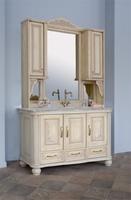 Комплект мебели Аллигатор Classic 125C (цвет 1015) зеркало на столешнице
