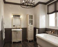Комплект мебели для ванной комнаты DiHome Сильвия 65 слоновая кость из массива ясеня