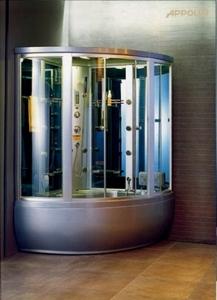 Душевая угловая кабина с ванной Apollo GUCI-856