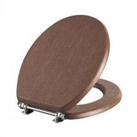 Сиденье для унитаза деревянное каштан, 37-013-301