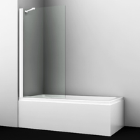 Шторка в ванну WasserKRAFT Berkel 48P01-80WHITE Fixed