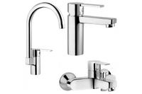 Fuga набор смесителей (кухня+раковина+ванна) A49139EXP
