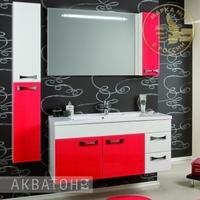 Комплект мебели Акватон ДИОР 100 Бело-бордовый