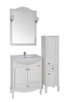 Комплект мебели для ванной комнаты ASB Woodline Флоренция-65 белый  (Массив ясеня)