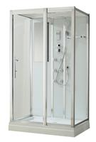Душевая прямоугольная кабина с ванной BLACK&WHITE G5509