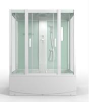 Душевая прямоугольная кабина с ванной MirWell MR3515TP-C3