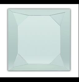 Зеркало в ванную комнату Dubiel Vitrum Diamonte Silver  90х90