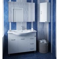 Комплект мебели СаНта Эльбрус 100 с зеркальным шкафом Стандарт 100