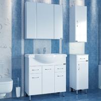 Комплект мебели СаНта Эльбрус 80 с зеркальным шкафом Стандарт 80