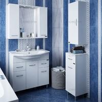 Комплект мебели СаНта Тумба Модерн 75 + Зеркало Прима 75, свет