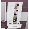 Комплект мебели СаНта Омега 90 с зеркальным шкафом Стандарт 90, со светом