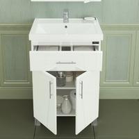 Комплект мебели СаНта Дублин 70 с 1 ящиком с Зеркальным шкафом Стандарт 70 свет