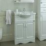 Комплект мебели для ванной комнаты СаНта Верона 60 + Зеркало Волна 60 правое, со светом