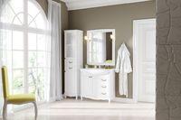Комплект мебели DiHome Сильвия 85 белая из массива ясеня