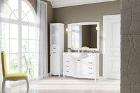 Комплект мебели DiHome Сильвия 120 белая из массива ясеня