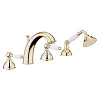 Смеситель в ванную Webert Dorian DO730101010 Золото/белый