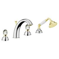 Смеситель в ванную Webert Karenina КА730101017 Хром/золото/кристаллы Swarovski
