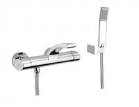 Смеситель в ванную Webert Wolo WO980201564 Черный матовый с ручкой хром