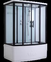 Душевая прямоугольная кабина с ванной TIMO Standart T-6650 Black