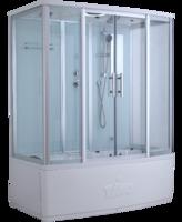 Душевая прямоугольная кабина с ванной TIMO Standart T-6650 Silver