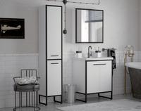 Комплект мебели для ванной комнаты COROZO Айрон 60 черный/белый