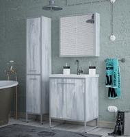 Комплект мебели для ванной комнаты COROZO Айрон 60 серый/арт
