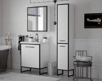 Комплект мебели COROZO Айрон 70 черный/белый