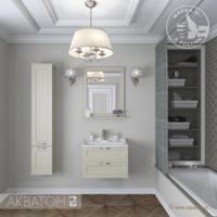 Комплект мебели для ванной комнаты Акватон ЛЕОН 65 (дуб бежевый)