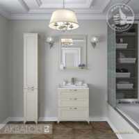 Комплект мебели для ванной комнаты Акватон ЛЕОН 65Н (дуб бежевый)