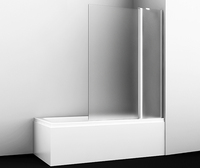 Шторка в ванну WasserKRAFT Berkel 48P02-110R Matt glass Fixed
