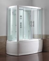 Душевая прямоугольная кабина с ванной Eago DA327F8