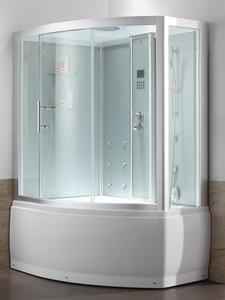 Душевая прямоугольная кабина с ванной Eago DA328F8 (левая/правая)