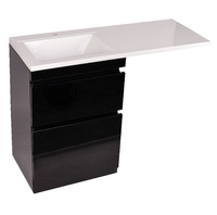 Комплект мебели Style line Даймонд 120 glass Люкс черная PLUS