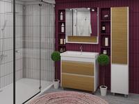 Комплект мебели для ванной комнаты Stella Polar Диана 60 белая