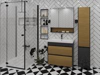 Комплект мебели для ванной комнаты Stella Polar Диана 60 черная