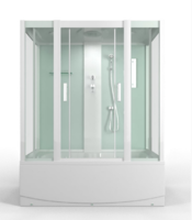 Душевая прямоугольная кабина с ванной MirWell MR3517TP-C1