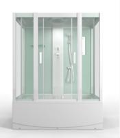 Душевая прямоугольная кабина с ванной MirWell MR3517TP-C3