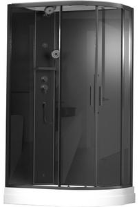 Душевая кабина асимметричная TIMO ILMA 902 Black L