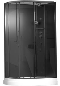 Душевая кабина асимметричная TIMO ILMA 902 Black R