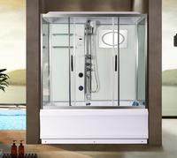 Душевая прямоугольная кабина с ванной WeltWasser WW500 Арт. EMMER 170/85/55