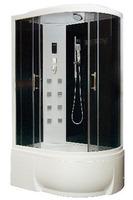 Душевая кабина асимметричная BAS Фиджи черная (левая/правая)