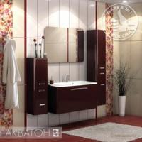 Комплект мебели Акватон Валенсия 110 гранат