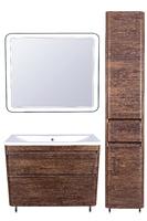 Комплект мебели Style Line Атлантика 100, напольная, Люкс старое дерево, PLUS