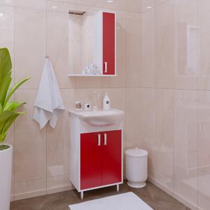 Комплект мебели для ванной комнаты Stella Polar Колор 50 красная