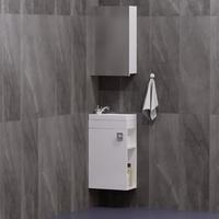 Комплект мебели для ванной комнаты COROZO Комо 40 белая